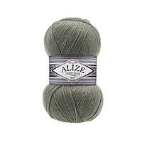 Пряжа Superlana Tig Alize 138 зеленый миндаль (Суперлана Тиг Ализе)