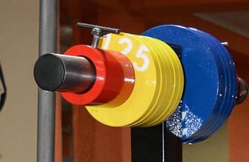 Диски для штанги. Блин 1.25 кг / Диск стальной 1,25 кг - желтый
