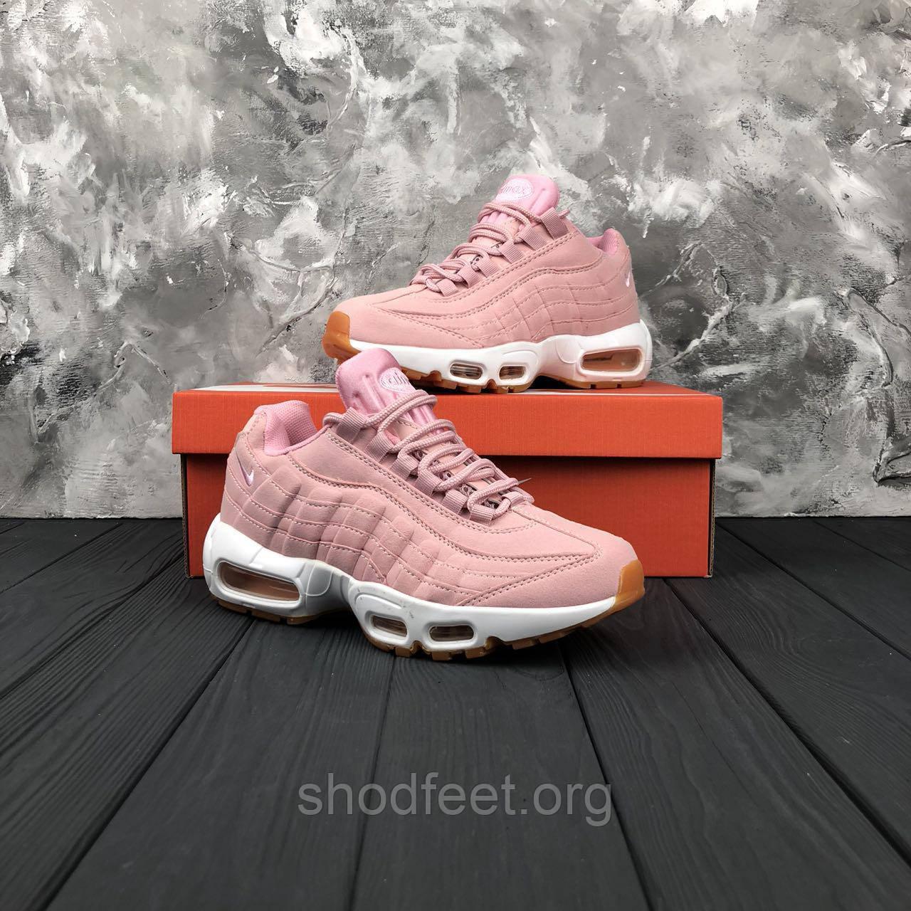 60f4598e Женские кроссовки Nike Air Max 95 Premium Pink Oxford - ShodFeet в Харькове