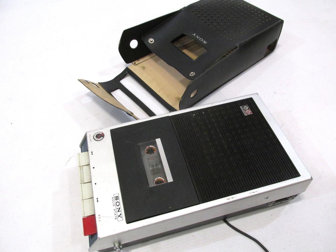 Винтажный кассетный плеер-магнитофон Sony TC-100, Играет громко и чист