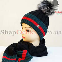Комплект женский (шапка+шарф) Rioni, Agnes