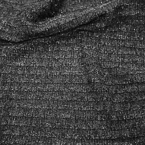Трикотаж ангора полоска темно-серая с люрексом