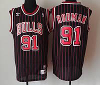 Мужская майка черная Chicago Bulls Rodman №91(Родман) сезон NBA  All-Star 1995-1996