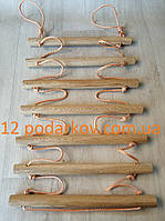 Деревянная детская верёвочная лестница (оранжевая) для шведской стенки