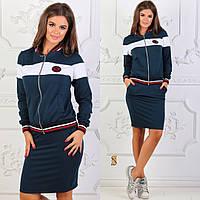Женский костюм в спортивном стиле / двунитка / Украина 6-847, фото 1