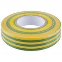 Изоляционная лента 0,13х15 мм желто-зеленая 10 метров ИЭК
