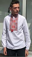 Подростковая  вышитая сорочка с ярким орнаментом
