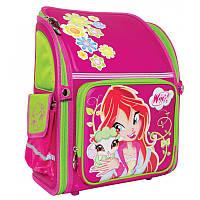Ранец (рюкзак) - каркасный школьныйдля девочки розовый Фея Винкс, H-11 Winx mint, 551532