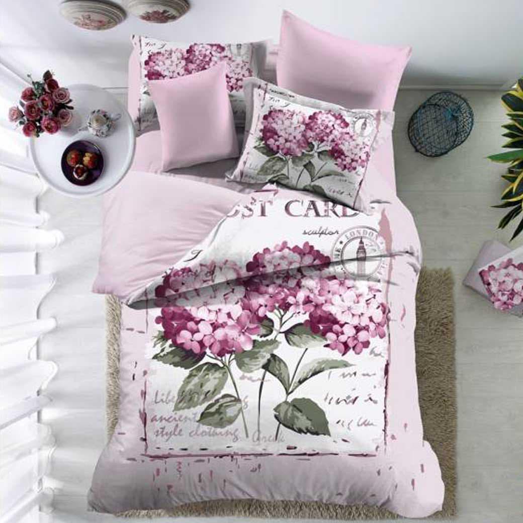 Комплект постельного белья Love You сатин Юнона двуспальный - евро