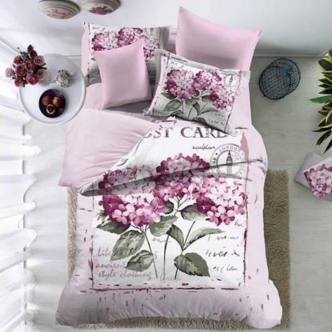 Комплект постельного белья Love You сатин Юнона двуспальный - евро, фото 2