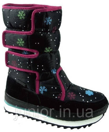 Зимние сапоги дутики SUPER GEAR B172 black fuxia   продажа 577168844f51e