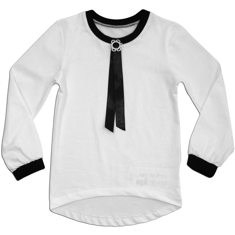 fe15af707e8 Блузка школьная с длинным рукавом Элегантность - Интернет-магазин