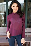 Бордовая полупрозрачная рубашка Maisie из шифона в рубчик со шлейфом
