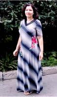Нарядное женское платье по фигуре прилегающий силуэт р52-54 с кружевом стильное елегантное стройнит!!