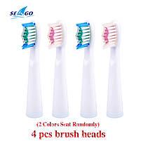 Seago SG 507 White Насадки для звуковой электрической зубной щетки, 5 штук, фото 4