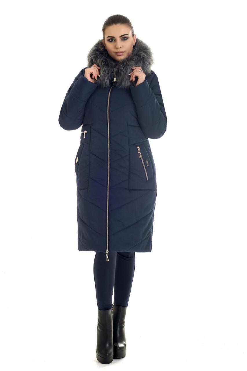 Пуховик женский с искусственным мехом, фото 3