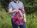 Авоська - Сумка на плечо - Красная сумка - Пляжная сумка - Хлопковая сумка, фото 2