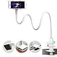 Гибкий механический держатель/подставка для смартфона Escase (Белый)