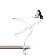 Гибкий механический держатель/подставка для смартфона Escase (Белый), фото 2