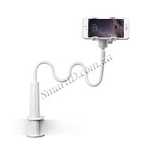 Гибкий механический держатель/подставка для смартфона Escase (Белый), фото 3