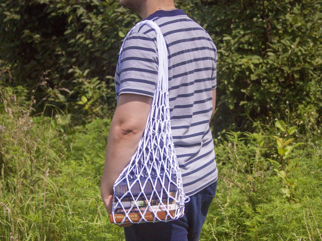 1490d43f5e5c Авоська - Сумка на плечо - Студенческая сумка - Пляжная сумка - Хлопковая  сумка
