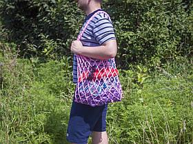 Авоська - Сумка на плечо - Большая сумка - Пляжная сумка - Хлопковая сумка