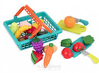 Игровой набор для двоих Battat Lite Овощи, фрукты на липучках в корзинке, 37 предметов