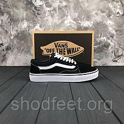 Подростковые кеды Vans Old School Black White