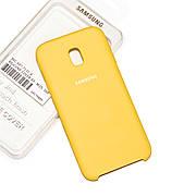 Силиконовый чехол на Samsung J5 J530 2017 Soft-touch Yellow
