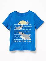 Детская футболка с морским рисунком Old Navy для мальчика