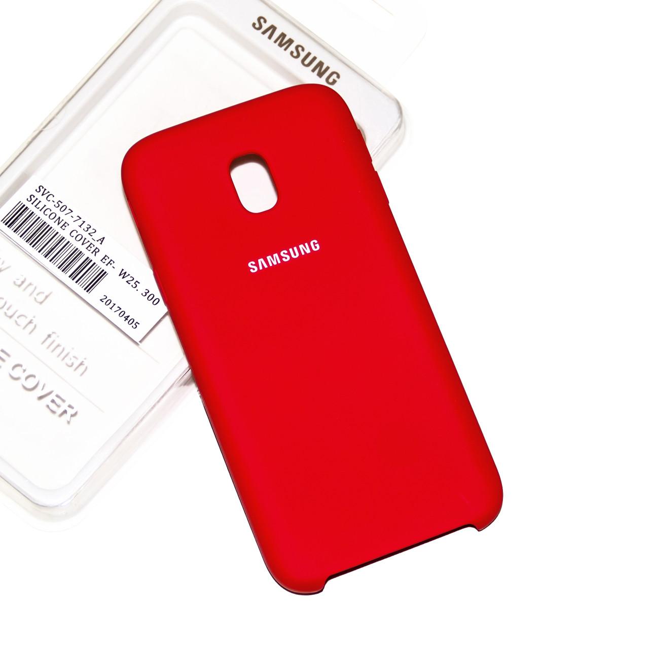 Силиконовый чехол на Samsung J7 730 (2017) Soft-touch Red