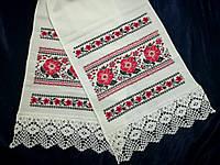Рушник украинский Цветущее поле, ручная вышивка