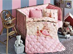 Набор в кроватку TAC Uyku seti Disney Balerina детское