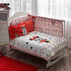 Набор в кроватку TAC Uyku seti Disney Minnie sketc детское