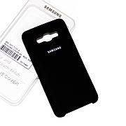 Силиконовый чехол на Samsung J7 710 (2016) Soft-touch Black