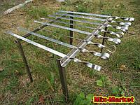 Мангал подставка на 8 шампуров из нержавеющей стали, фото 1