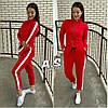 Женский стильный спортивный костюм с лампасами, в расцветках. Г-11-0718, фото 2