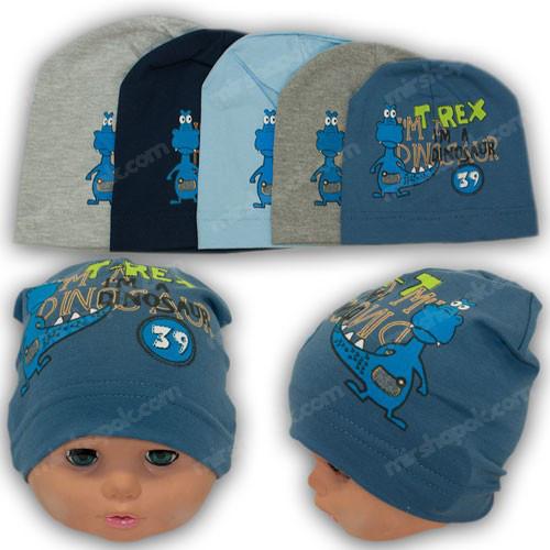 Трикотажная шапка для мальчика, р. 36, 38, 40