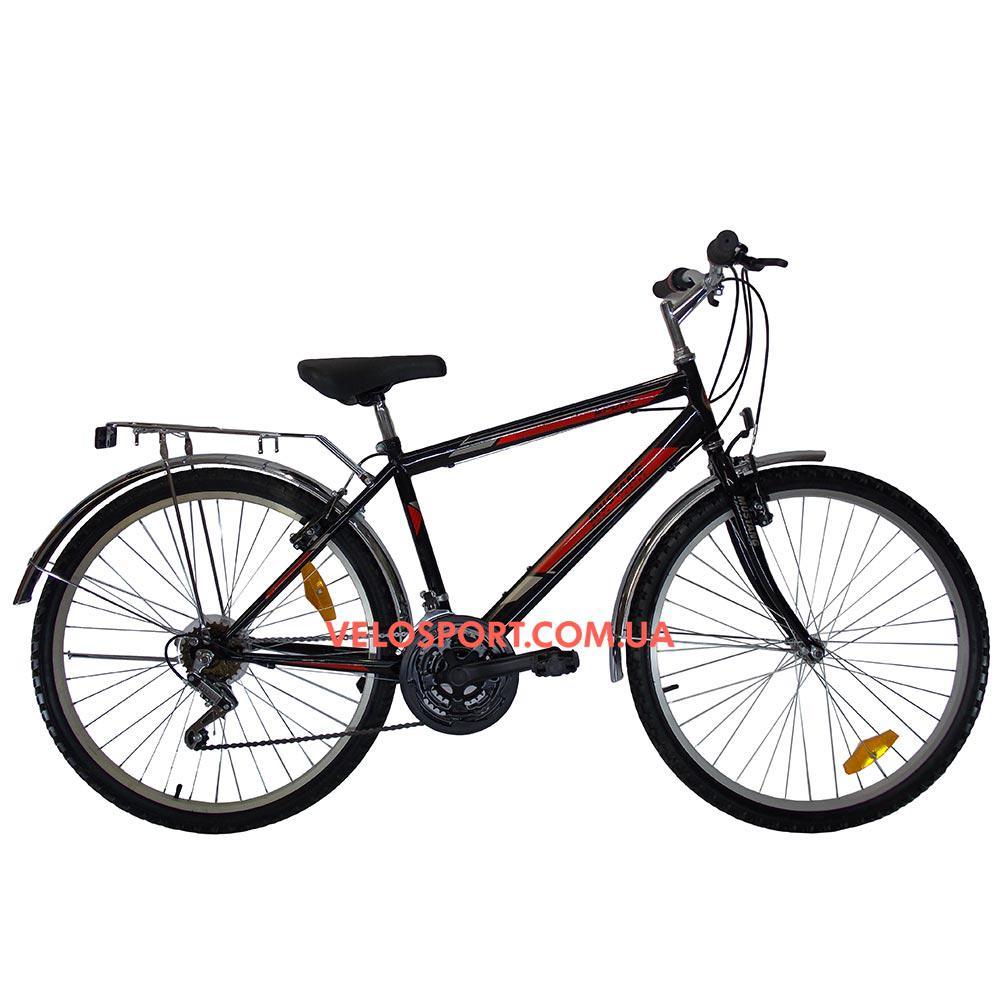 Дорожный велосипед Mustang Upland 26 дюйма черно-красный