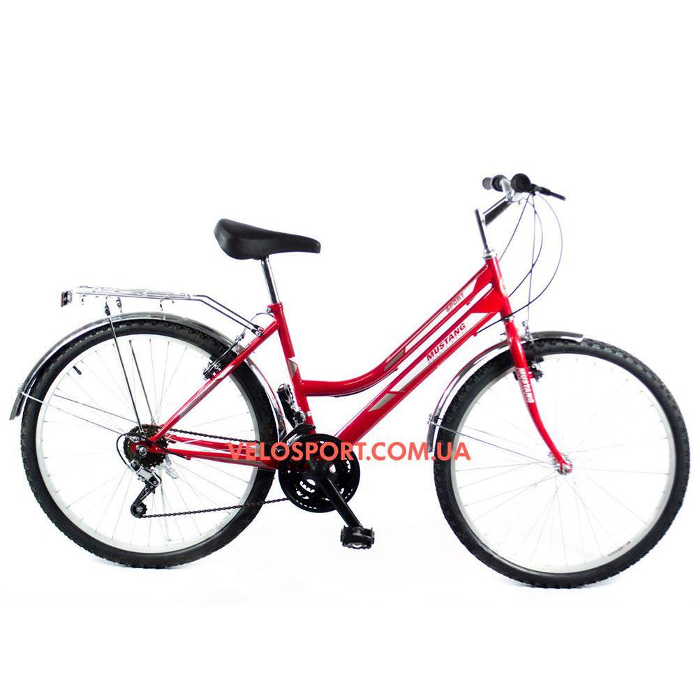 Городской велосипед Mustang Sport 26 дюймов красный