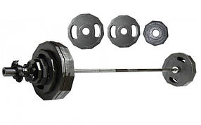 Штанга олимпийская (стальные блины) 73кг UR Newt NT-4737-73 (гриф l-1,8м, d-50мм, бл. 2х(15+10+5кг))