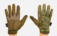 Перчатки тактические с закрытыми пальцами MECHANIX MPACT BC-5622-O (р-р M-XL, оливковый)