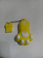 Флешка 32Гб USB flash 32Gb Лапка желтая