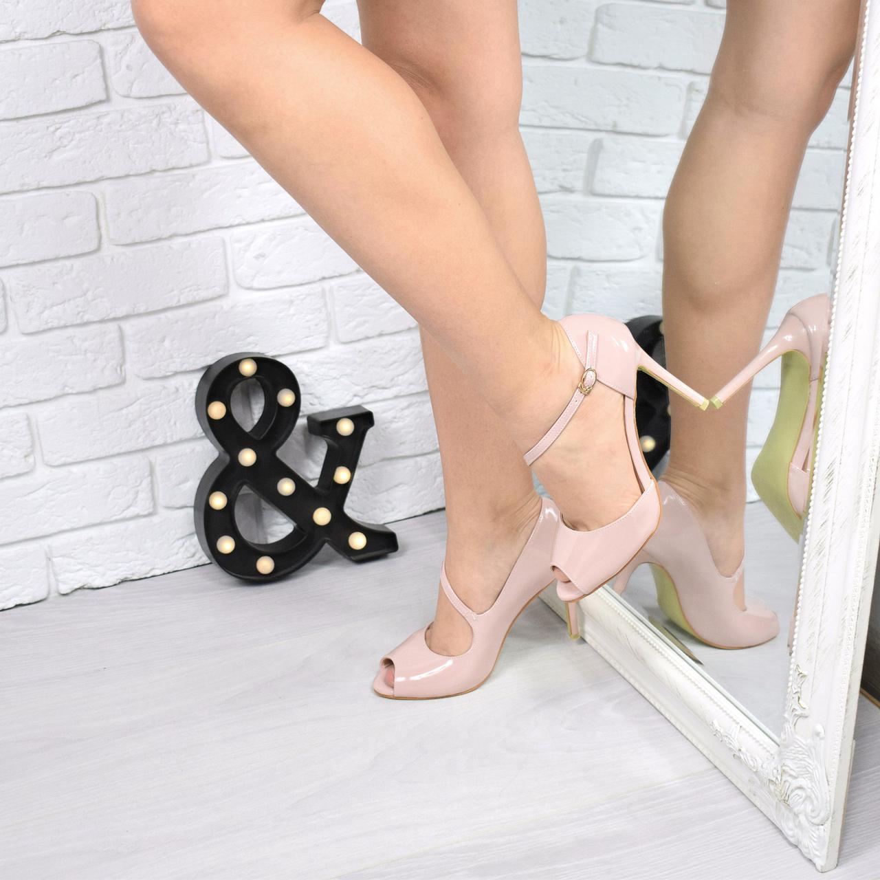 e724d95edab0 Туфли женские лодочки Vinex пудра лак , женские туфли на каблуке ...