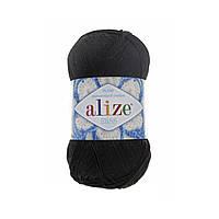 Пряжа для ручного вязания Alize miss -(Ализе мисс) 60 черный