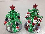 Елка новогодняя, декоративное стекло, 8х5,5 см, сувенир новогодний,  Днепропетровск, фото 4