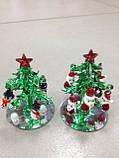 Елка новогодняя, декоративное стекло, 8х5,5 см, сувенир новогодний,  Днепропетровск, фото 5