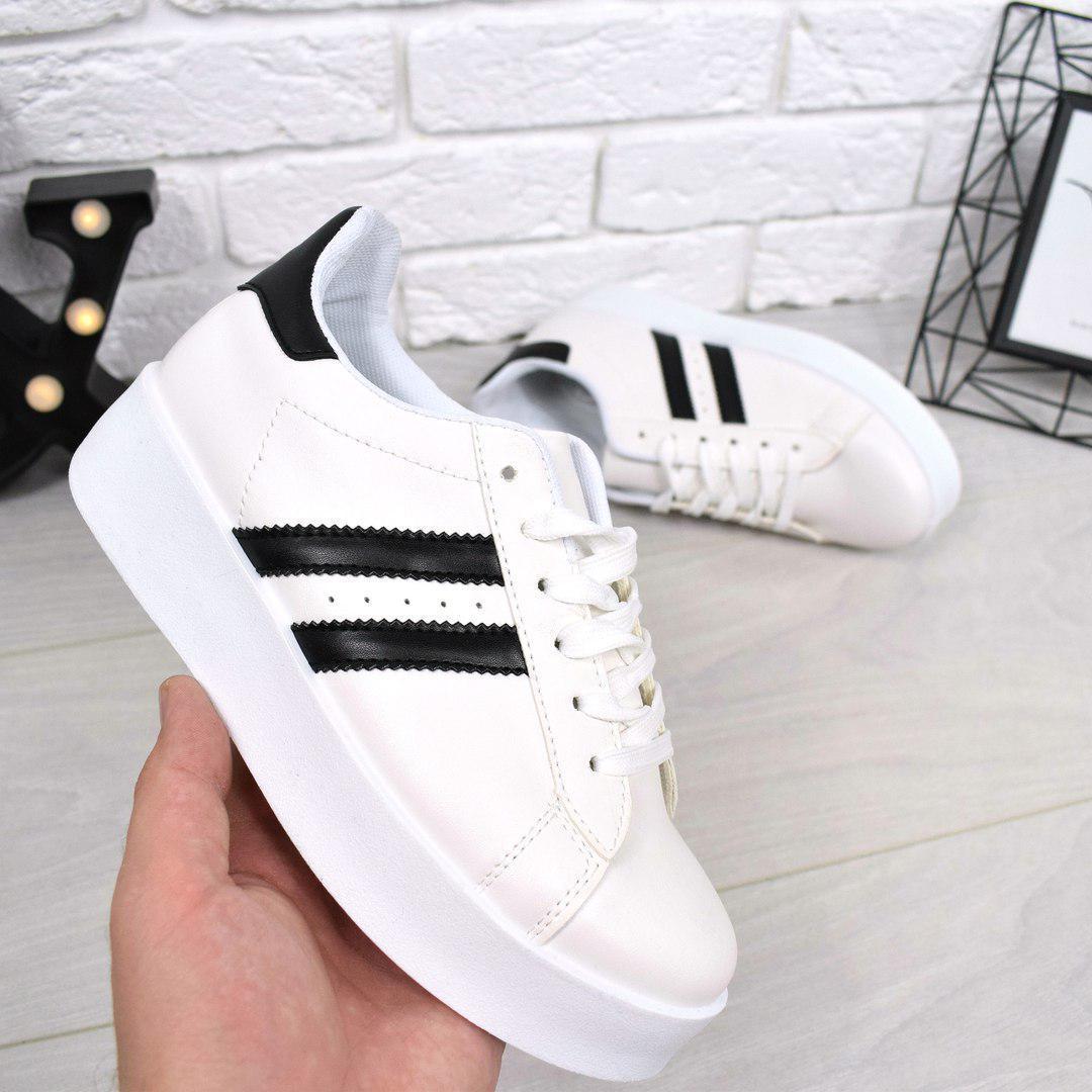 0308011e1d69 Кроссовки криперы Tatty белые + черный , женская обувь  продажа ...