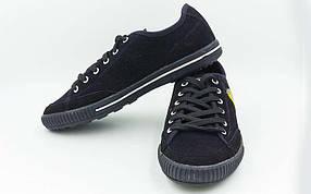 Обувь спортивная мужская (р-р 40-45) Кожа Ferrari OB-3398-BK (верх-кожа, PVC, подошва-RB, черный)