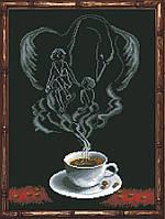 Наборы для вышивания нитками на канве Кофейная Фантазия - Близнецы 1 КИТ 90613